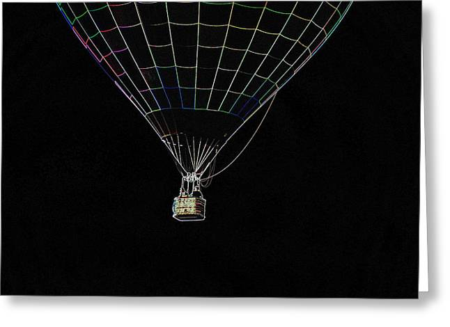 Just Hanging Around - Neon Greeting Card