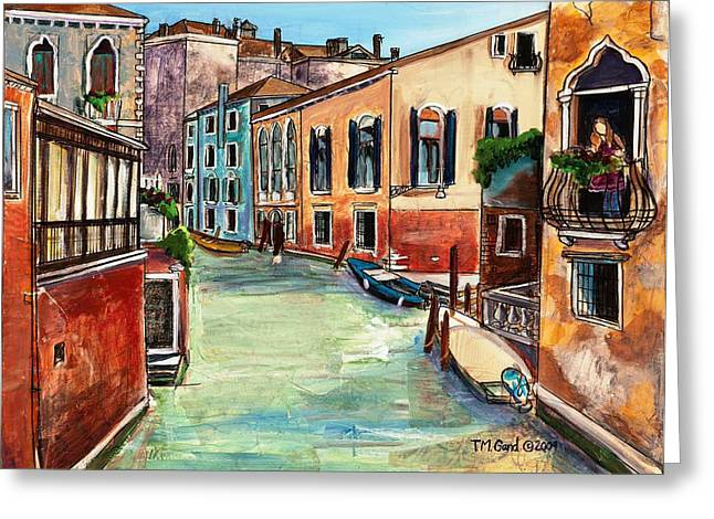 Greeting Card featuring the painting Just In The Neighborhood by TM Gand