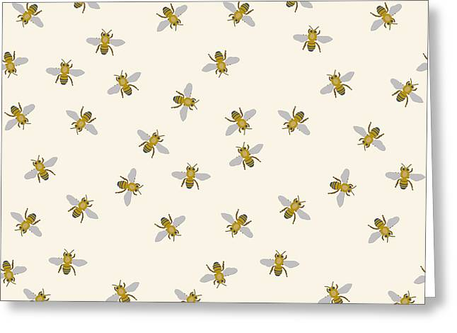 Just Little Bees Greeting Card by Sharon Turner
