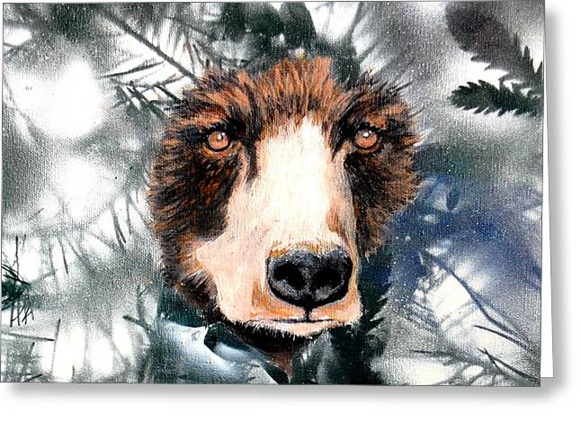 Just Lookin Greeting Card by Holly Smith