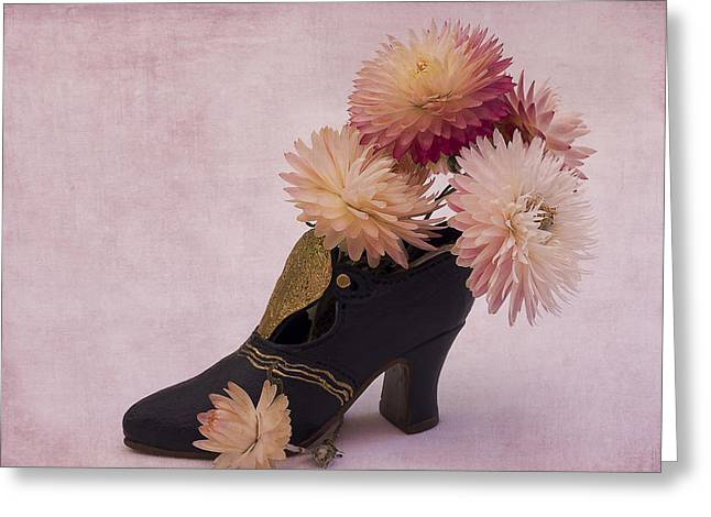 Greeting Card featuring the photograph Just One Shoe by Sandra Foster