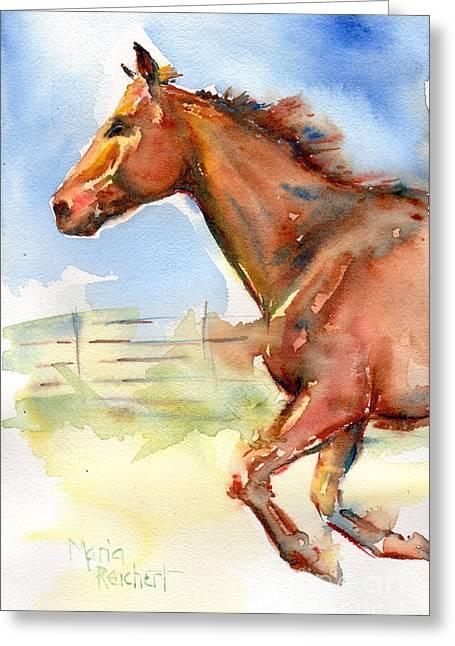 Horse Running Just Passing Through Greeting Card