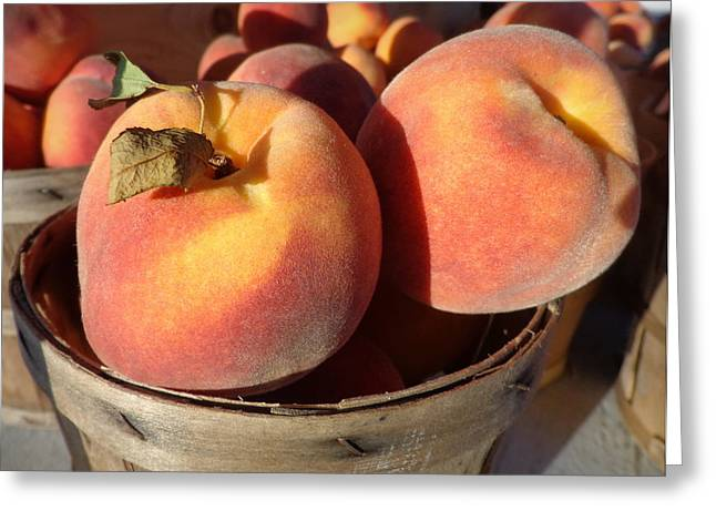 Just Peachy Greeting Card by Joseph Skompski
