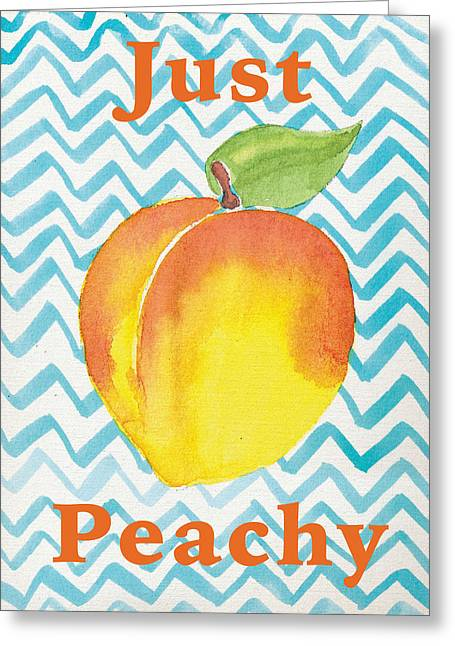 Just Peachy Painting Greeting Card by Christy Beckwith