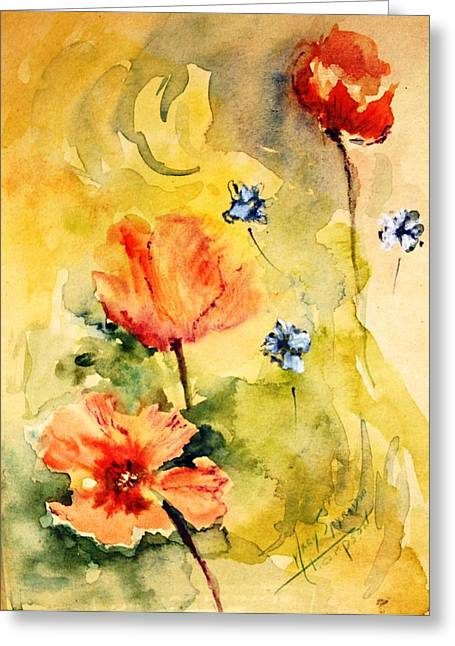 Just Play Greeting Card by Mary Spyridon Thompson