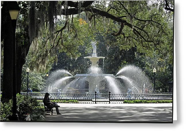 Just Relaxing In Savannah Greeting Card