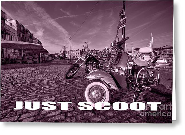Just Scoot Greeting Card