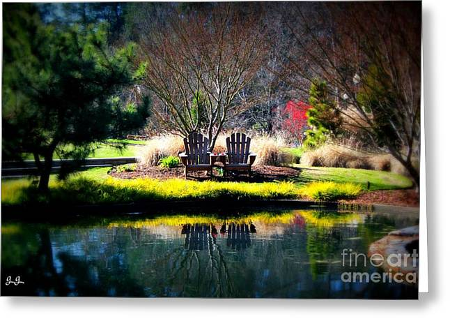 Greeting Card featuring the photograph Just The Two Of Us by Geri Glavis