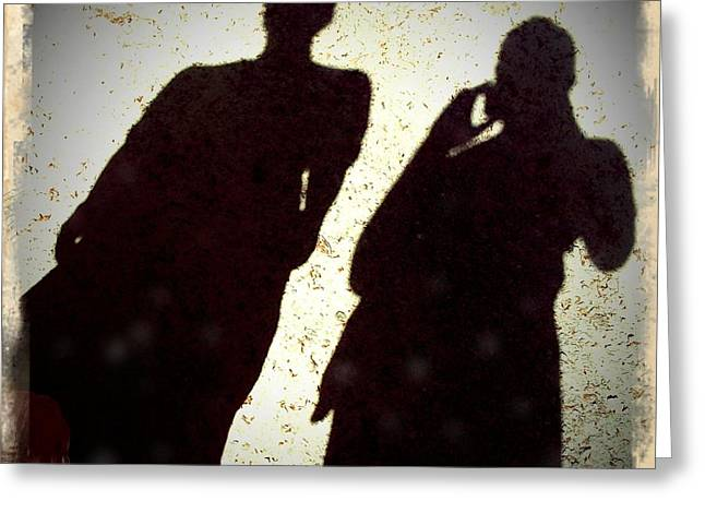 Just The Two Of Us - Shadows Of A Couple Greeting Card by Matthias Hauser