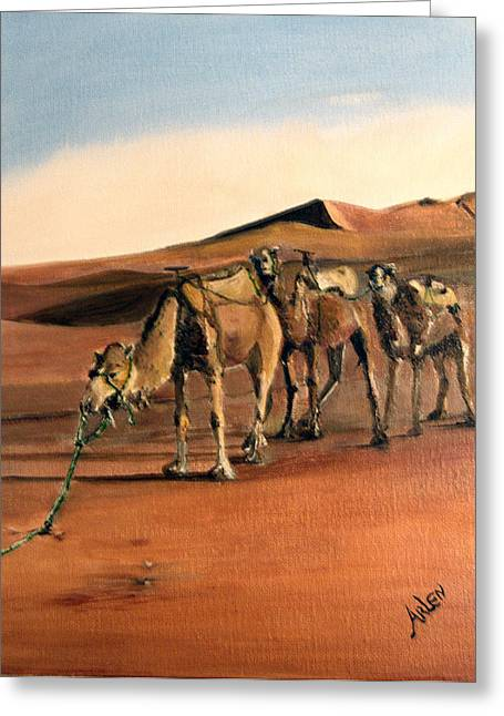 Just Us Camels Greeting Card