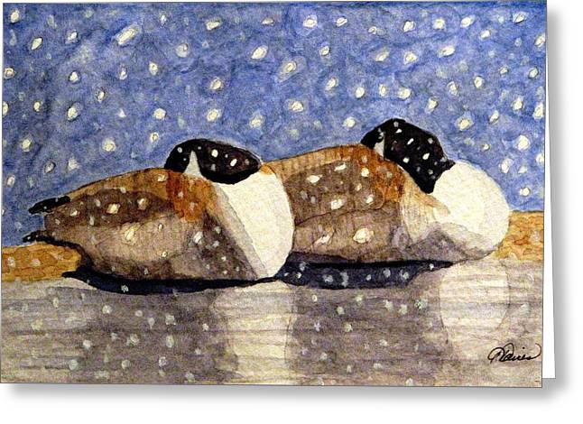 Just We Two Greeting Card by Angela Davies