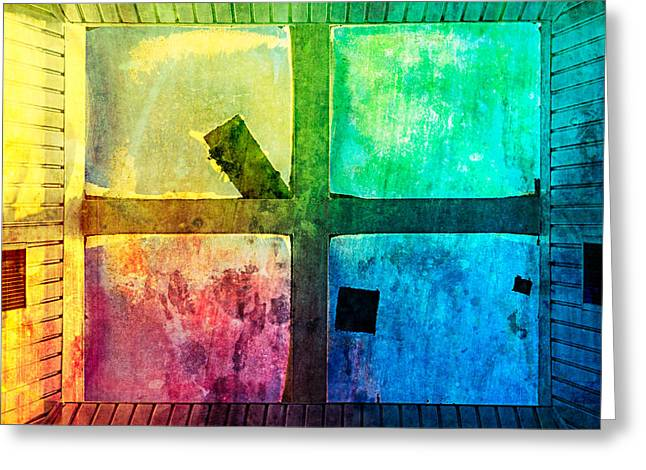 Just Window 1 - Colorful Greeting Card by Alexander Senin
