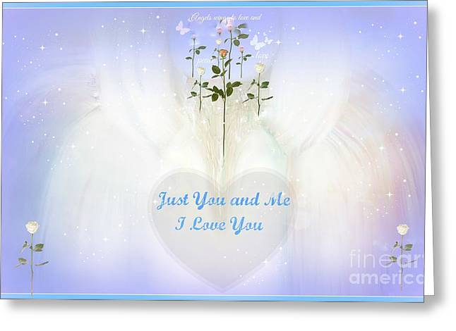 Just You And Me I Love You Greeting Card by Sherri's Of Palm Springs