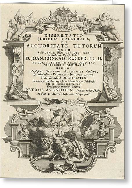 Justice Sitting On The Dutch Lion, Noach Van Der Meer Greeting Card by Quint Lox