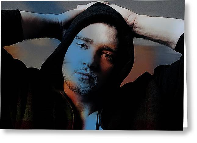 Justin Timberlake Greeting Card by Marvin Blaine