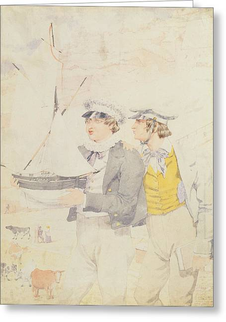 Juvenile Members Of The Yacht Club, 1853 Wc & Graphite On Paper Greeting Card