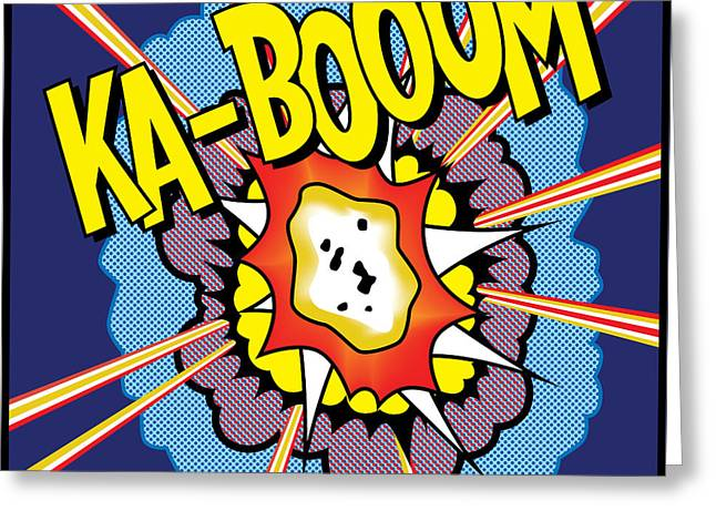 Ka-boom 2 Greeting Card