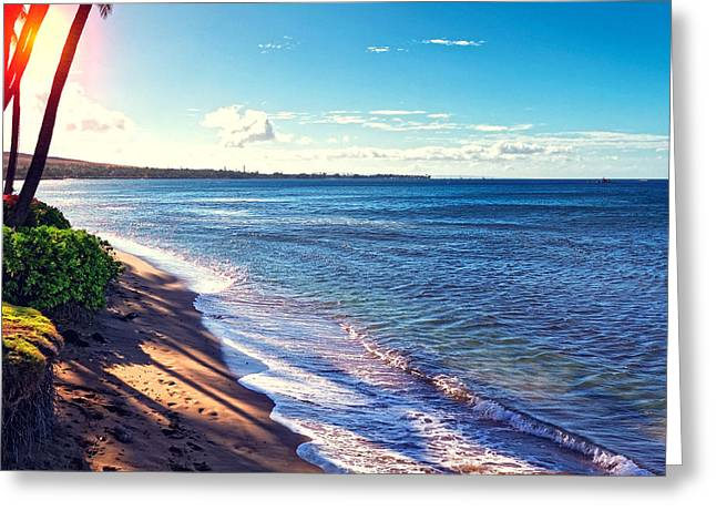 Kaanapali Beach Greeting Card by Lars Lentz