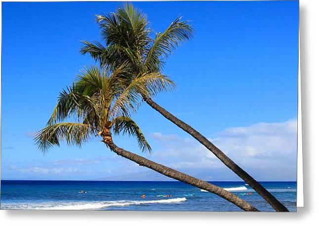 Kaanapali Hawaii Greeting Card by DJ Florek