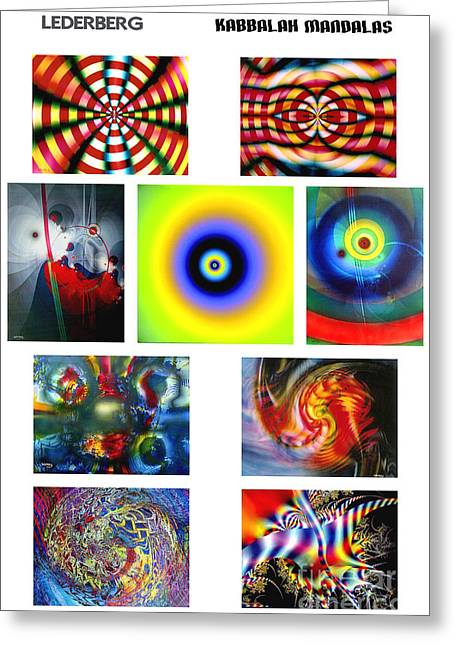 Kabbalah Mandala Poster Greeting Card