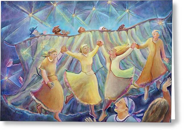 Kabbalat Shabbat 3 Greeting Card by Chana Helen Rosenberg