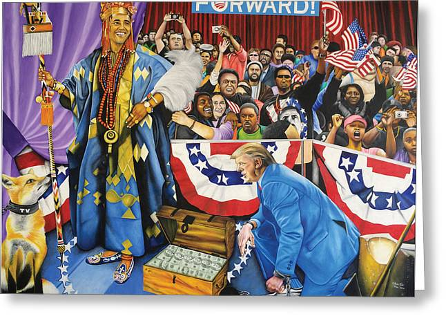 Kabiyesi Oba Obama Unquestionable King Obama Greeting Card