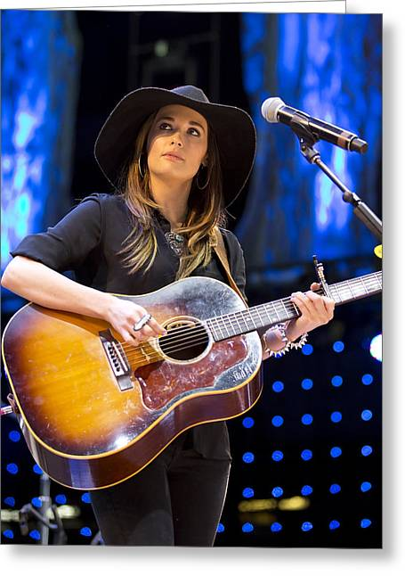 Greeting Card featuring the photograph Kacey Musgraves by Shawn Everhart