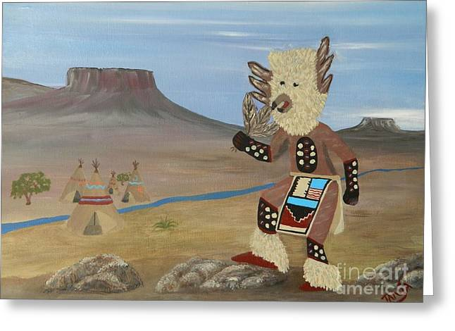 Kachina Owl Dancer Greeting Card