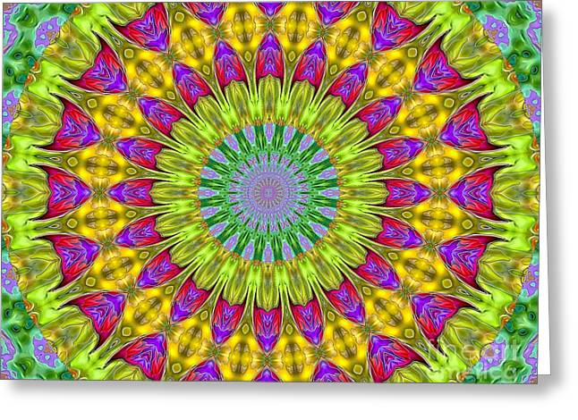 Kaeidoscope Shapes Greeting Card by Suzanne Handel