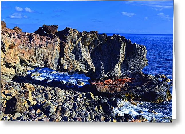 Greeting Card featuring the photograph Kaena Point Rock Arch by Aloha Art