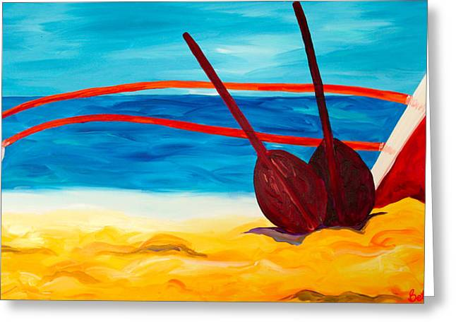 Kaeti's Canoe Greeting Card by Beth Cooper