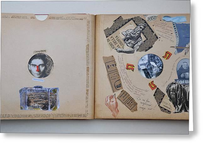 Kafka Packs His Suitcase Greeting Card