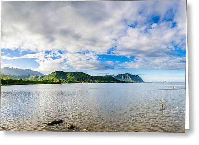 Kahaluu Fish Pond Panorama Greeting Card