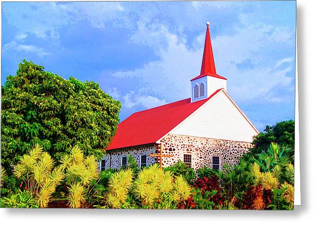 Kahikolu Congregational Greeting Card by Dominic Piperata