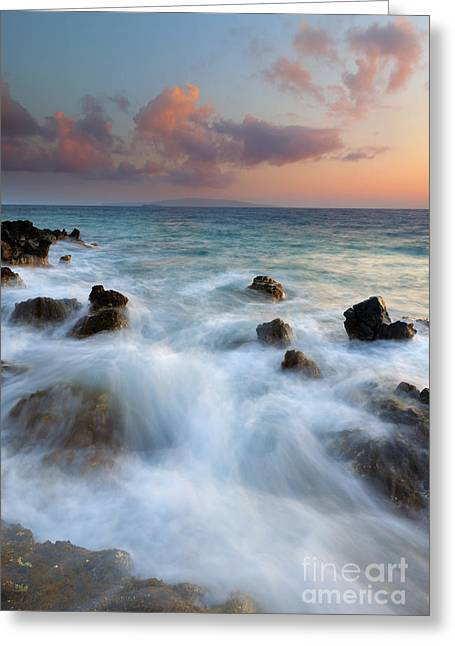Kahoolawe Sunset Greeting Card by Mike  Dawson