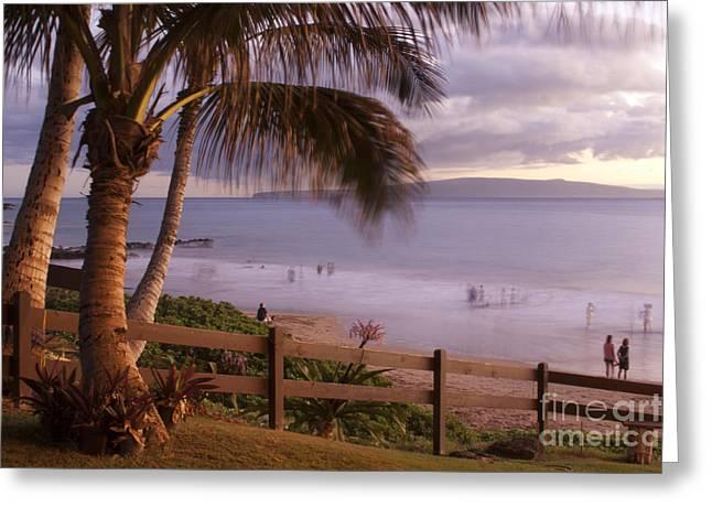Kai Makani Hoohinuhinu O Kamaole - Kihei Maui Hawaii Greeting Card