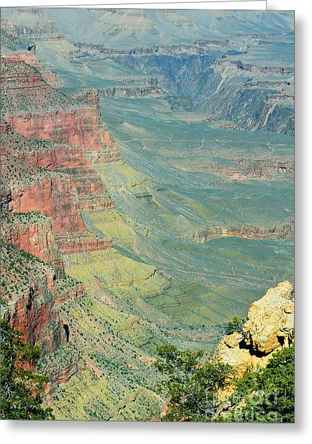 Kaibab Trail View Grand Canyon National Park Greeting Card by Shawn O'Brien