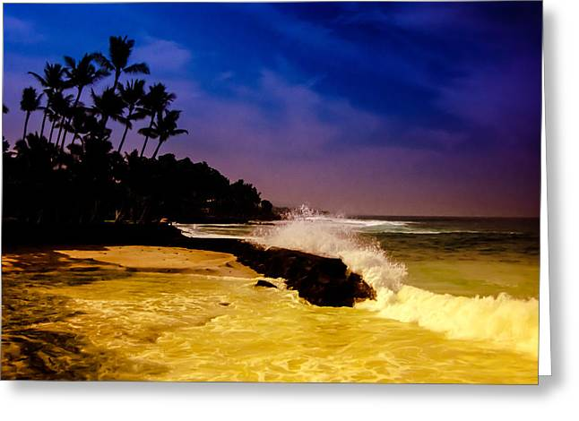 Kailua Bay Greeting Card by Randy Sylvia