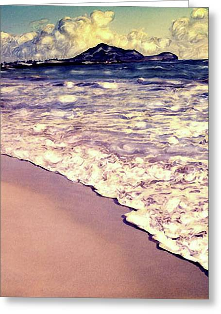Greeting Card featuring the photograph Kailua Beach 2 by Paul Cutright