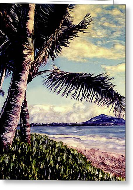 Greeting Card featuring the photograph Kailua Beach 3 by Paul Cutright