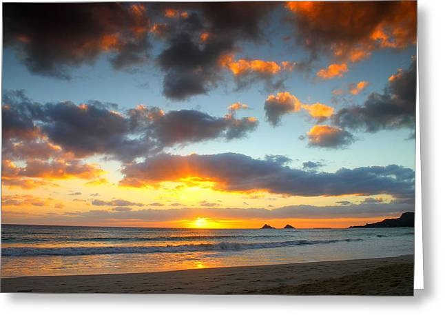 Kailua Beach Sunrise Greeting Card