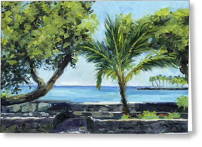 Kailua - Kona Sea Wall Greeting Card