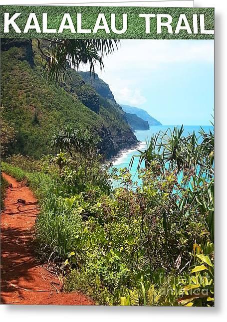 Kalalau Trail On Kauai Greeting Card by Joseph J Stevens