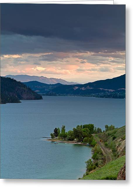 Kalamalka Lake Storm Clouds Greeting Card by Michael Russell