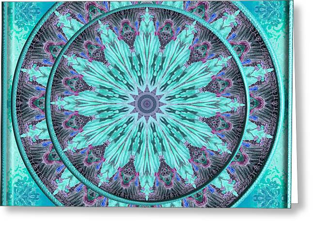 Greeting Card featuring the digital art Kaleidoscope 153 by Charmaine Zoe