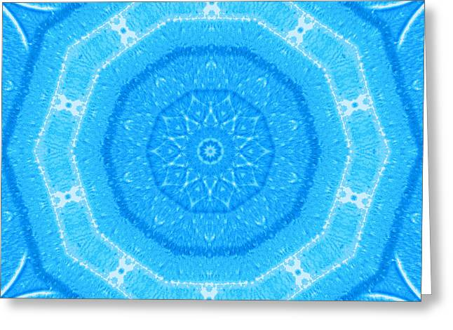 Kaleidoscope Blues Greeting Card by Paulette Maffucci