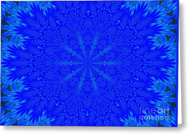 Kaleidoscope Blues Greeting Card by Suzanne Handel