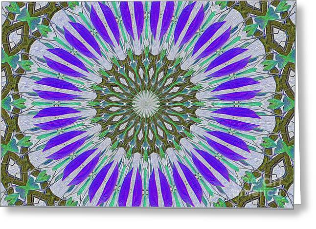 Kaleidoscope Celtic Greeting Card by Suzanne Handel