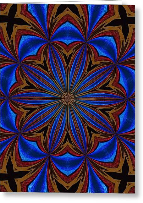 Kaleidoscope Feathers Four Greeting Card by Suzanne Handel