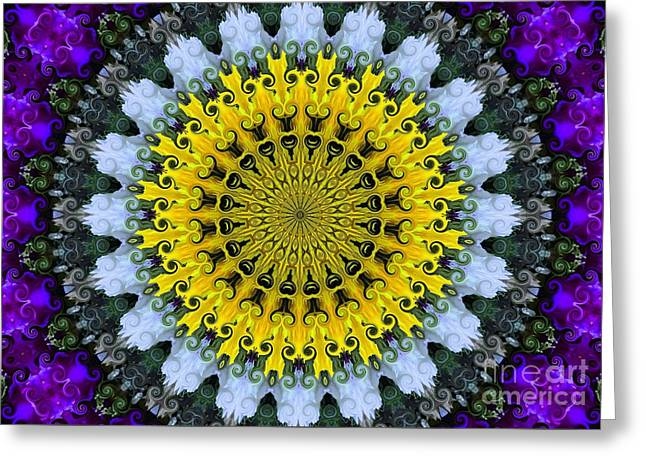 Kaleidoscope Flowers Greeting Card by Suzanne Handel